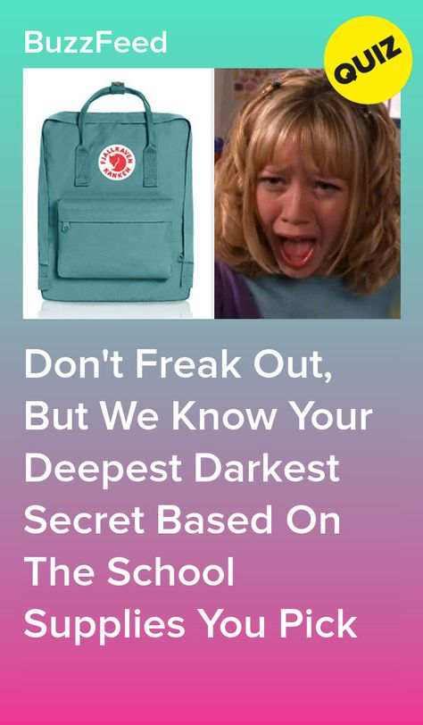 Don't Freak Out, But We Know Your Deepest Darkest Secret Based On The School Supplies You Pick