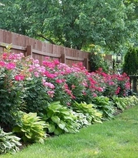 55 Best Ideas Backyard Landscaping Along Fence Plants Raised Beds Backyard Landscape Architecture Privacy Landscaping Backyard Backyard Landscaping Designs