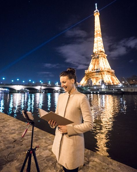Paris wedding plans in spite of COVID? Now worries! You can either reschedule your ceremony flexibly with me if you can't travel to Paris due covid. Or we can celebrate your ceremony online via video call on Zoom. Just as I did with Lucy & Frederico at the sparkling Eiffel Tower by night. . 📸: pierre torset paris photographer . #parisofficiant #pariscelebrant #eiffeltowerwedding #zoomwedding #covidwedding #covidweddingideas #pariselopement #pariswedding #paris #eiffeltower #eiffeltowerbynight