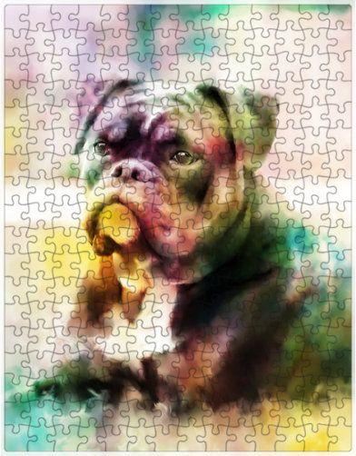 Bulldog Portrait Jigsaw Puzzle With Photo Tin Dog Photo Puzzle Dog Print Puzzle Dog Family Puzzle Pet Photo Puzzle Puzzle Gift Pazly Podarki
