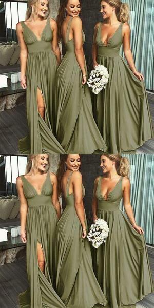 May 2020 - Sexy A-line Side Slit Long Burgundy Bridesmaid Dresses, Cheap Bridesmaid Burgundy Bridesmaid Dresses Cheap, Wedding Bridesmaid Dresses, Wedding Party Dresses, The Dress, Marie, Chiffon, Sexy, Zipper, Wedding Ideas