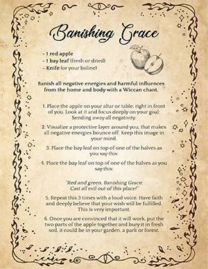 ▶️ 'Banishing Grace': Easy Spell to Remove Evil & Negativity | Recipe | Book of shadows, Banishing spell, Wiccan