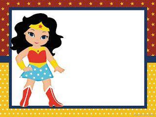 Mujer Maravilla Chibi Invitaciones Para Imprimir Gratis