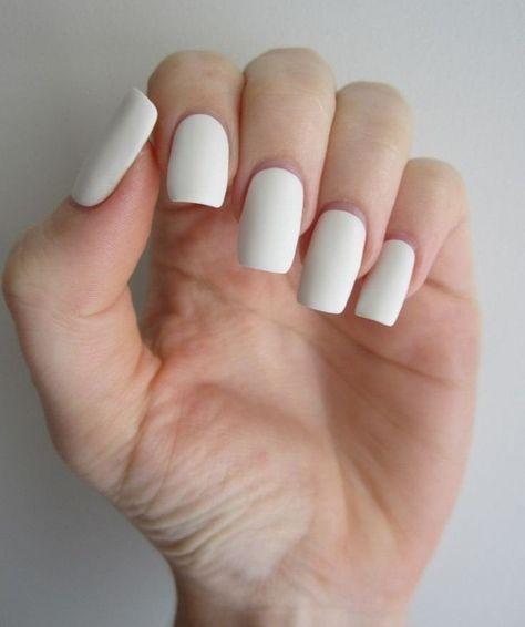 Simple Matte Nail Art Designs for Beginners (38)