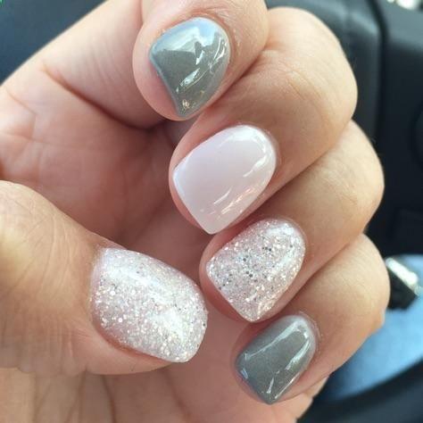 Winter Glitter Nexgen Nails