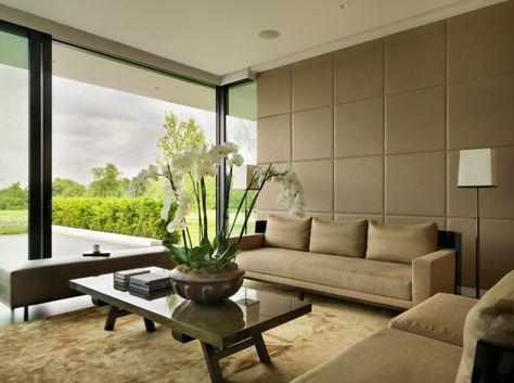Popular Leder Wandverkleidung Wohnzimmer modern einrichten Wohnen Pinterest Wohnzimmer modern Wandverkleidung und Holzverkleidung