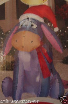 NEW GEMMY AIRBLOWN INFLATABLE CHRISTMAS disney's eeyore YARD DECOR LED LIGHTS UP
