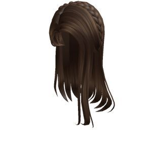 1 Brown Straight Hair With Braid Tiara Roblox In 2020 Brown Straight Hair Straight Hair With Braid Straight Hairstyles