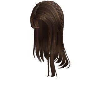 1 Brown Straight Hair With Braid Tiara Roblox Straight Hair With Braid Brown Straight Hair Straight Hairstyles