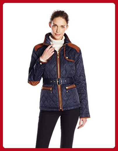 Cole Haan Womens Quilted Barn Jacket