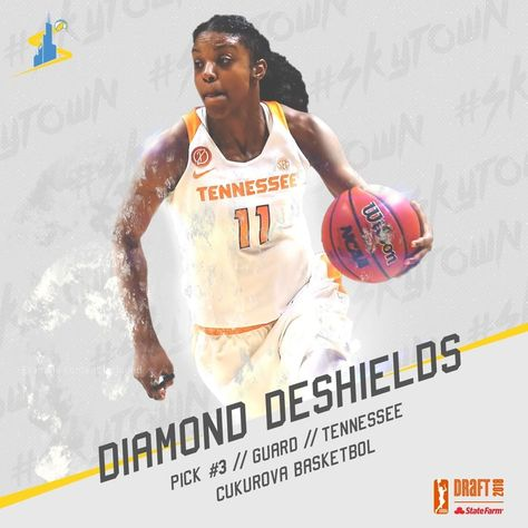 #WNBADraft pick number 3️⃣, Diamond DeShields!
