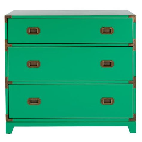 Campaign Dresser (Kelly Green) in Dressers | The Land of Nod