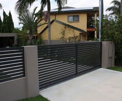 Image Result For Modern Fence Designs Metal With Concrete Walls Modern Fence Design House Fence Design Modern Fence