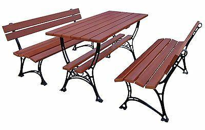 Gartenmobel 2 X Bank Tisch Sitzgarnitur Holz Gartent