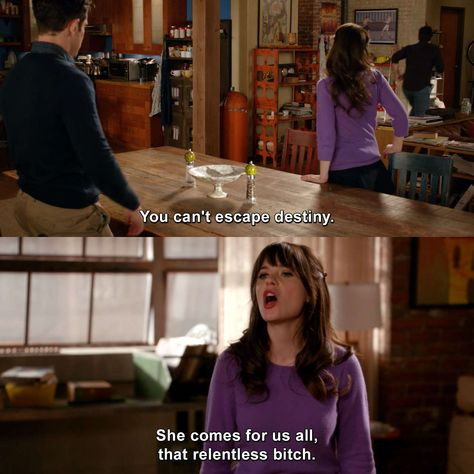 New Girl - Parking Spot New Girl Memes, New Girl Funny, Jess New Girl, New Girl Quotes, Funny Girl Quotes, Comedy Movie Quotes, Tv Show Quotes, Snl News, Nick And Jess
