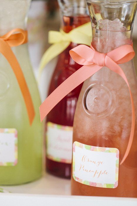 Pretty Juice Carafes for Mother's Day Brunch