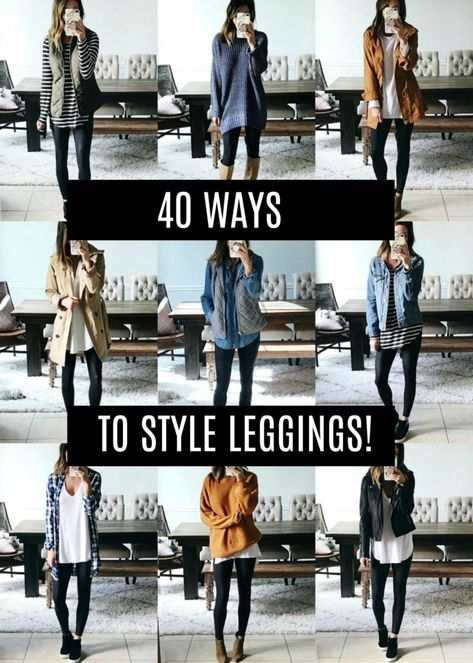 40 Ways to Style Leggings! - The Sister Studio 40 Ways to Style Leggings! - The Sister Studio<br> Wowza, this post took some time! It's been a HUGE request though so I'm so happy to have this done! Today I'm sharing 40 ways to style leggings. Yep, that's… Camouflage Leggings, Printed Leggings, Women's Leggings, Cheap Leggings, Leggings Outfit Winter, Leather Leggings Outfit, Outfit With Black Leggings, Leggings At Work, Street Style Fashion
