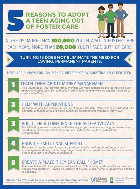 Infographic | 5 Reasons to Adopt A Teen Aging Out of Foster Care - CHLSS
