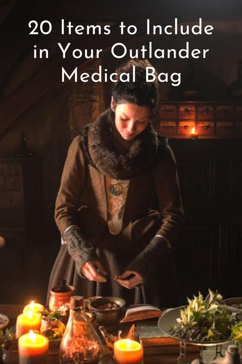 20 Items to Include In Your Outlander Medical Bag - ihearttvclub Healing Herbs, Natural Healing, Alternative Health, Alternative Medicine, Health Diet, Health And Wellness, Medical Bag, Heath And Fitness, Outlander Book