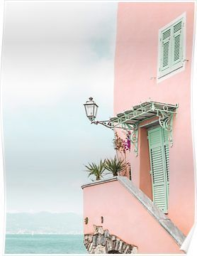 Ocean Pink Beach House Poster In 2020 Photo Wall Collage Beach Aesthetic Pink Beach