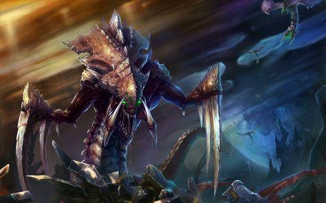 HD wallpaper: brown alien digital wallpaper, StarCraft, Starcraft II, Zerg