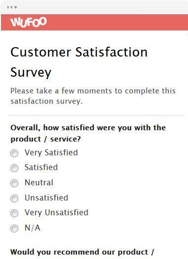 Customer Satisfaction Survey Customer Satisfaction Survey