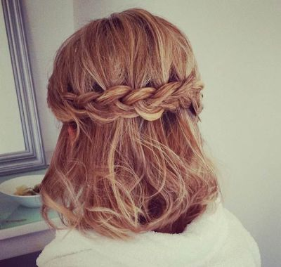 Formal Hairstyles For Short Hair Half Up Half Down Prom Hairstyles For Short Hair Hair Styles Medium Hair Styles
