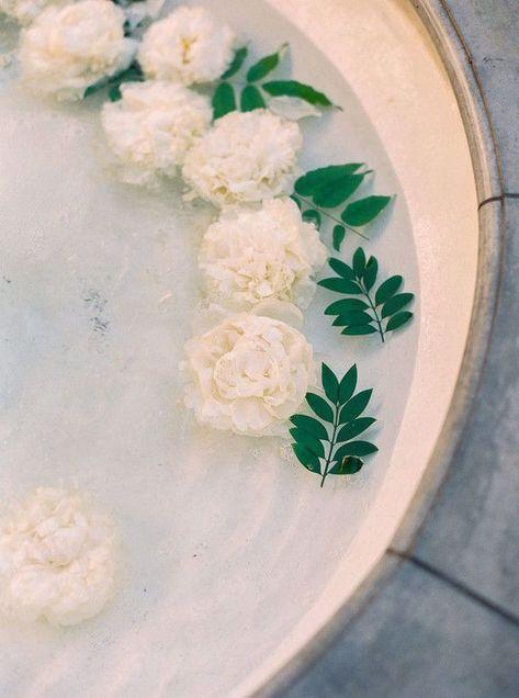 White gardina flowers