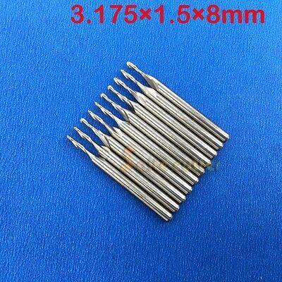 10pcs Carbide endmill Double flutes spiral CNC router wood pdf bits 4mm x17mm