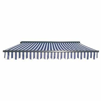 138 W X 120 D Manual Retraction Slope Patio Awning Patio Awning Door Awnings Deck Awnings