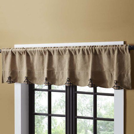 Home Rustic Lodge Shabby Chic Kitchen Valance