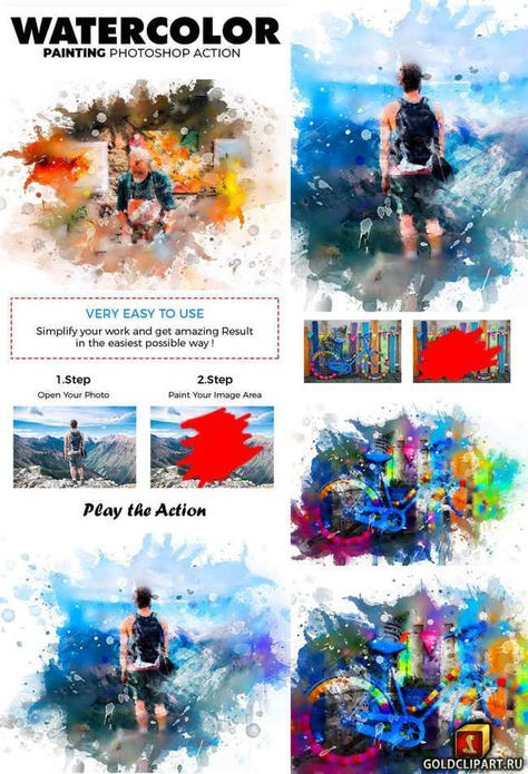 Watercolor Painting Photoshop Action 21875063 Photoshop Actions