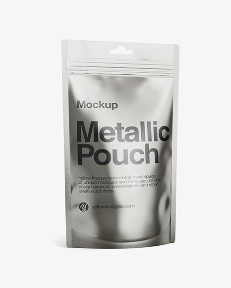 Download Metallic Stand Up Pouch Mockup Half Side View In Pouch Mockups On Yellow Images Object Mockups Mockup Free Psd Design Mockup Free Psd PSD Mockup Templates