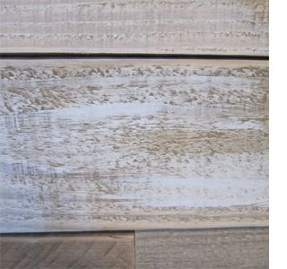Decorating with whitewashed wood panelling