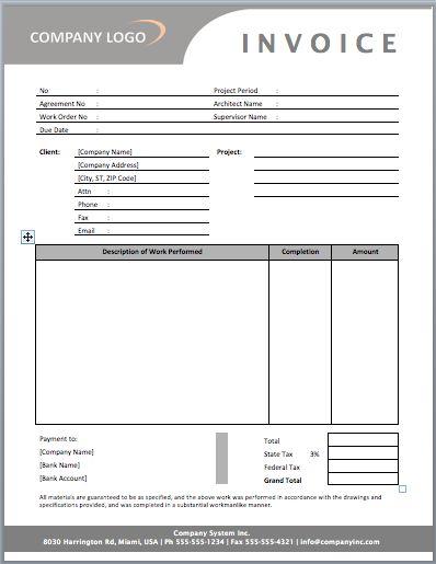 invoice template design project invoice interior design business documents invoices client invoice templates se templates business templates