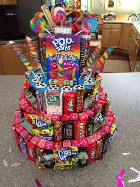 Cake make entirely of candy