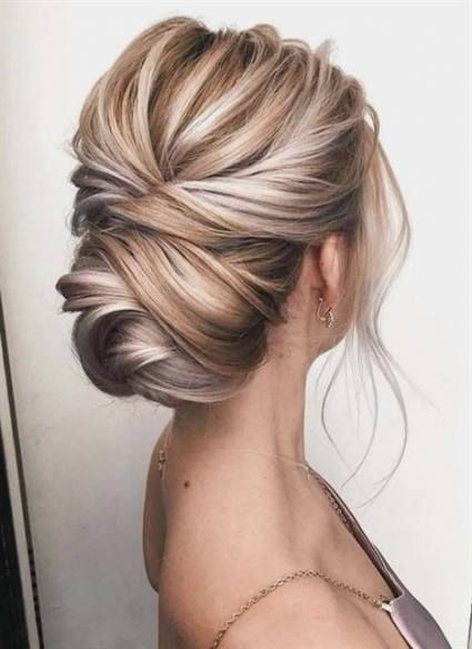 Hair Ideas For Prom Up Dos Bridesmaid Hairstyles 63 Ideas In 2020 Thick Hair Styles Hair Styles Formal Hairstyles For Short Hair
