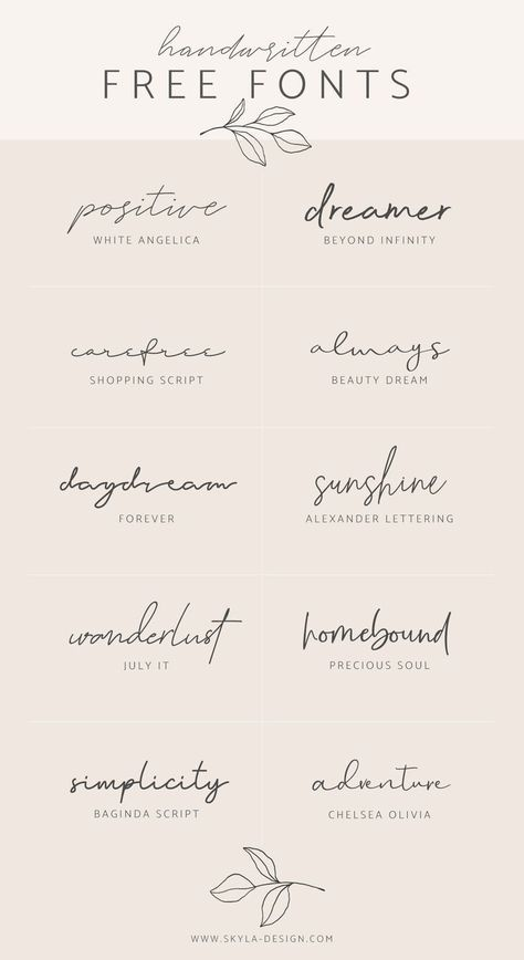 Handwritten free fonts | Contributed by Skyla Design #font #fonts #script #han   Kleine tattoo ideen