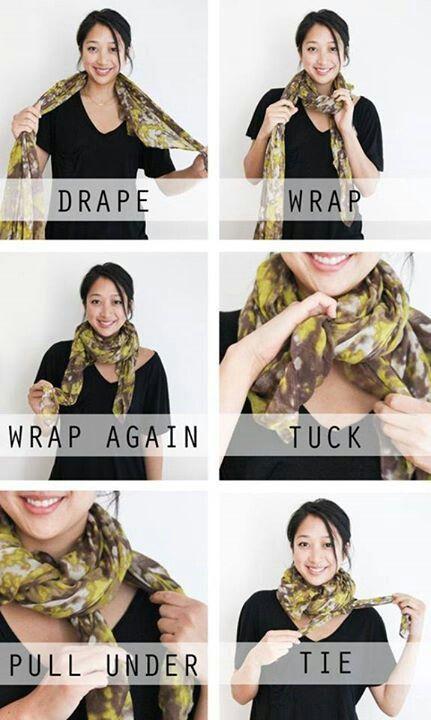 Como Usar Pañuelos Y Chalinas How To Wear A Scarf