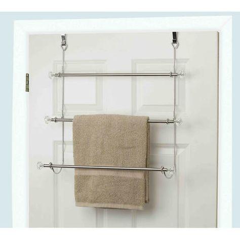 Over The Door Towel Holder Towel Rack Bathroom Bathroom