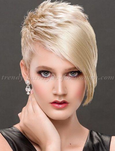 Short Hairstyles With Long Bangs Short Asymmetrical Haircut Short Hair Styles Asymmetrical Haircut