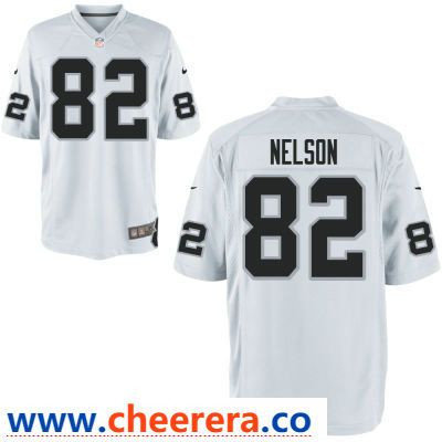 official photos a9f6f 5698a Men's Oakland Raiders #82 Jordy Nelson White Road Stitched ...
