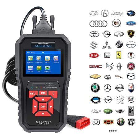 SEEKONE OBD2 SK860 Auto Diagnostic Check Engine Scan Tool
