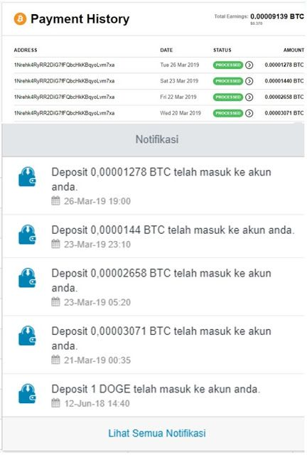 Mining Btc Di Aplikasi Cryptotab Browser Alam Teknologi Aplikasi