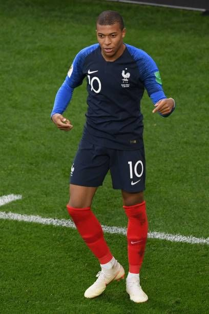 huge selection of 7382e 9bc4c France's forward Kylian Mbappe celebrates his goal during ...
