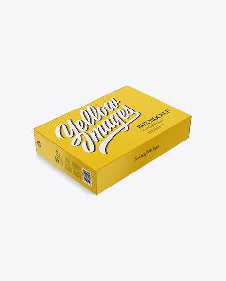 Download Glossy Carton Box With Handle Mockup Half Side View High Angle Shot In Box Mockups On Yellow Images Object Mockups Free Psd Mockups Templates Mockup Free Psd Bottle Mockup