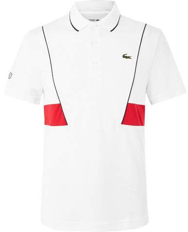 Lacoste Tennis Novak Djokovic Pique Tennis Polo Shirt