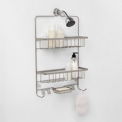 Large Bathroom Shower Caddy Nickel Made By Design In 2020 Large Bathrooms Shower Caddy Master Bathroom Shower