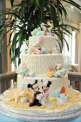 Under the Sea Disney wedding cake