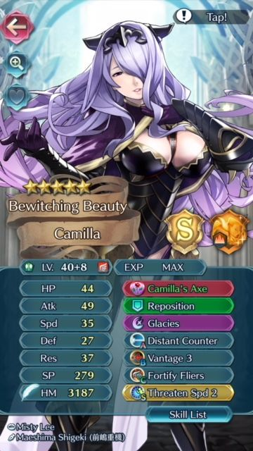 My High Merged Camilla And Working On Getting Her 10 Fire Emblem Heroes Fire Emblem Fates Fire Emblem